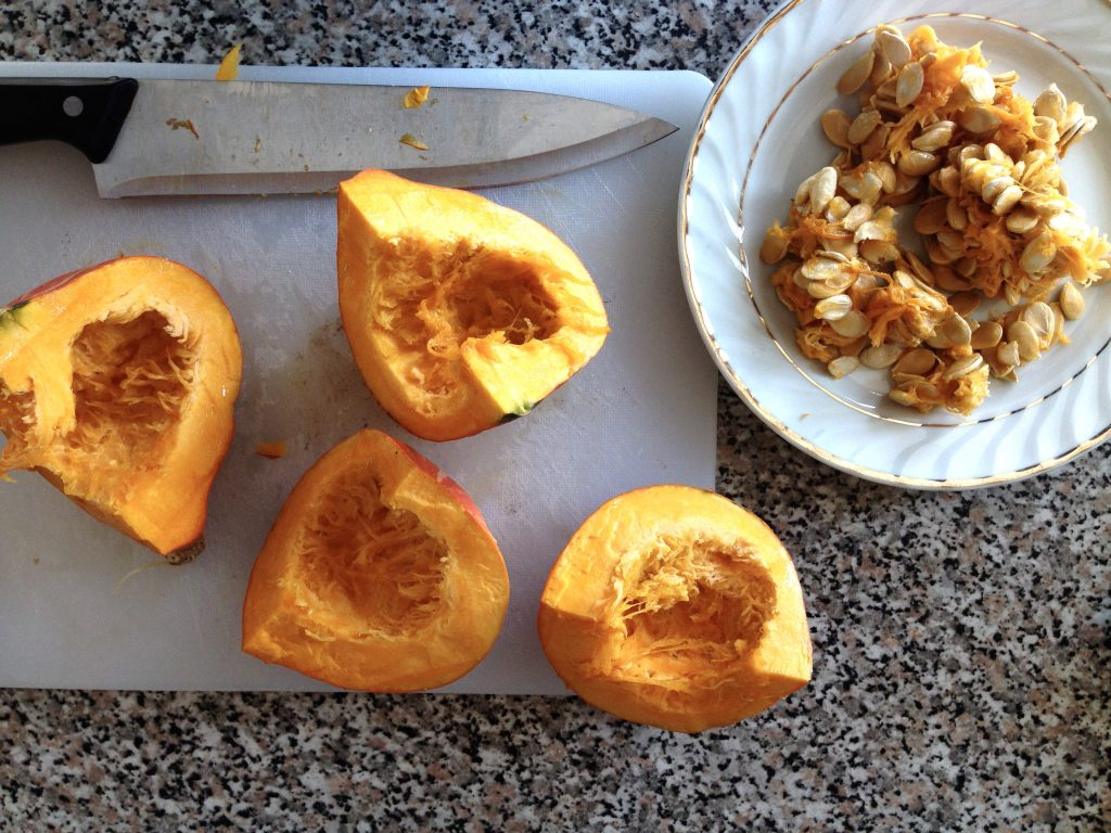 make your own nut free roasted pumpkin seeds